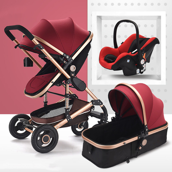 Winered with carseat