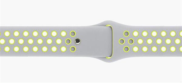 31Colors couleur mixte Hotsale Caoutchouc Bracelet Bracelet Marque bracelet avec 38mm 42mm Bracelet en Silicone avec Montre Sport Edition Trous VS Fitb