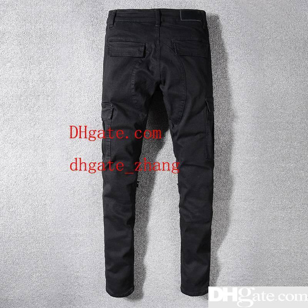 Mens Jeans Street Fashion Male Casual Pants Fashion Sweatpants Mens Designer Pants Skinny Mens Designer Pants