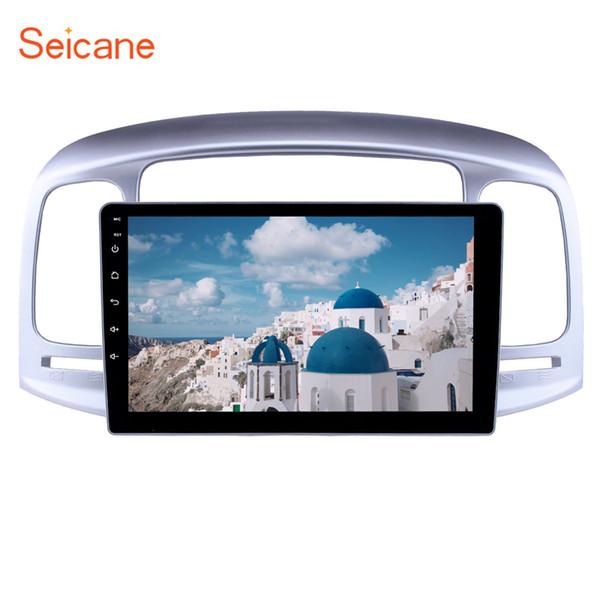 Navegación GPS Quad-core de 9 pulgadas con Android 9.0 DVD para 2006-2011 Hyundai Accent con Bluetooth WIFI USB AUX compatible con DVD SWC TPMS