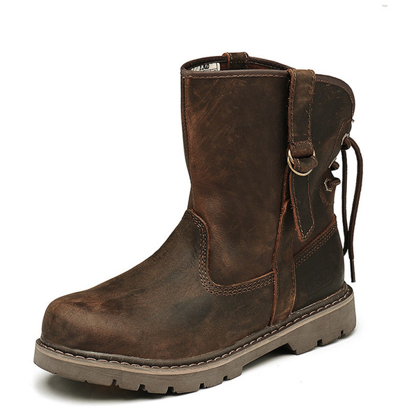 Classic couple boots men's and women's boots leather personality fashionable women's shoes