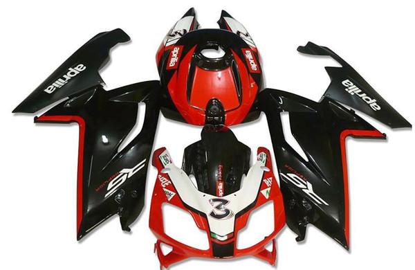 Nuevo kit de carenados para Aprilia RS4 RSV125 RS125 06 07 08 09 10 11 RS125R RS-125 RSV 125 RS 125 2006 2007 2008 2009 2010 2011 personalizado rojo negro