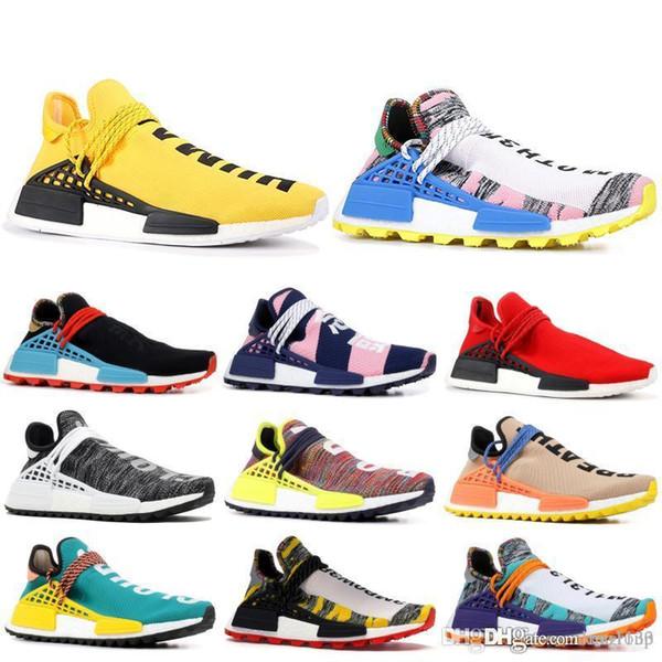 Human Race Runing Shoes Men Women BBC Oreo Black Nerd Peace Sun Glow Pharrell Williams Designer Shoes Sport Sneaker US 5.5-11