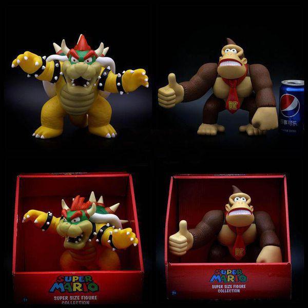 20cm Super Mario Bros Bowser Koopa Donkey Kong Mario PVC Action Figure Model movie Anime Dolls Toys