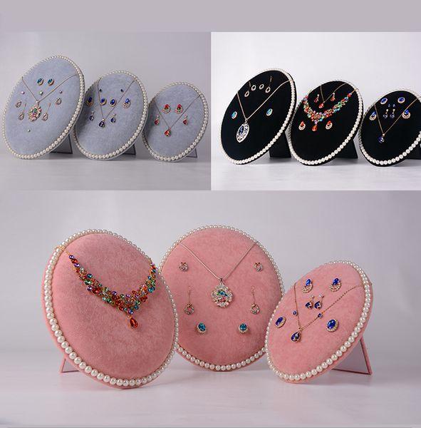 orecchini di perle in pelle scamosciata di velluto Espositore per gioielli Espositore Prop decorazione Nero rosa grigio di alta qualità spedizione gratuita
