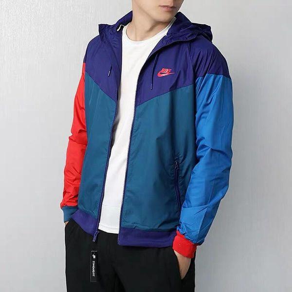 American boy fitness correr primavera y otoño sudaderas con capucha para hombres de doble capa material superior transpirable cremallera chaqueta a prueba de viento
