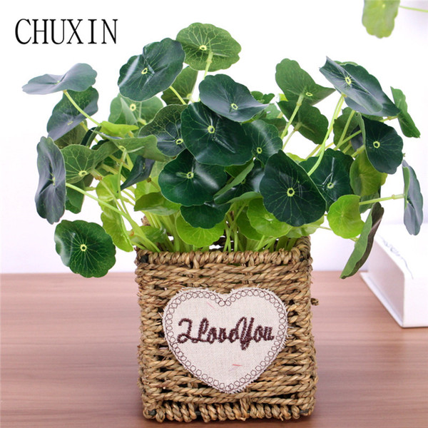 Cheap Artificial & Dried Flowers 3pcs Artificial real touch lotus leaf home green plant decoration fake plant fish tank water