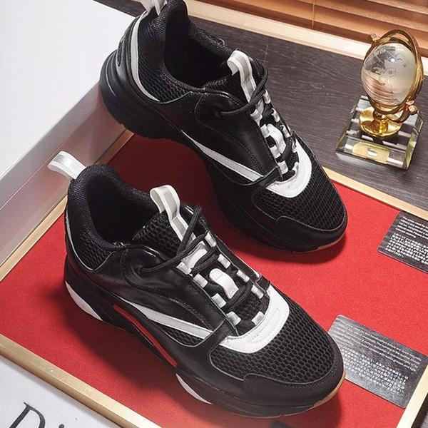 Мужская спортивная обувь на шнуровке Осенняя мода Комфорт Мужская обувь Кроссовки B22 из технического трикотажа и телячьей кожи N # 22 Мужская обувь Мода