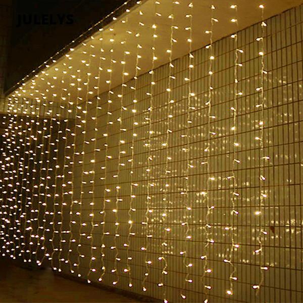En gros 10 M x 4 M 1280 Ampoules LED Rideau Fenêtre Fée Lumière Décoration Pour Vacances Fête De Mariage Lumières De Noël Guirlande En Plein Air