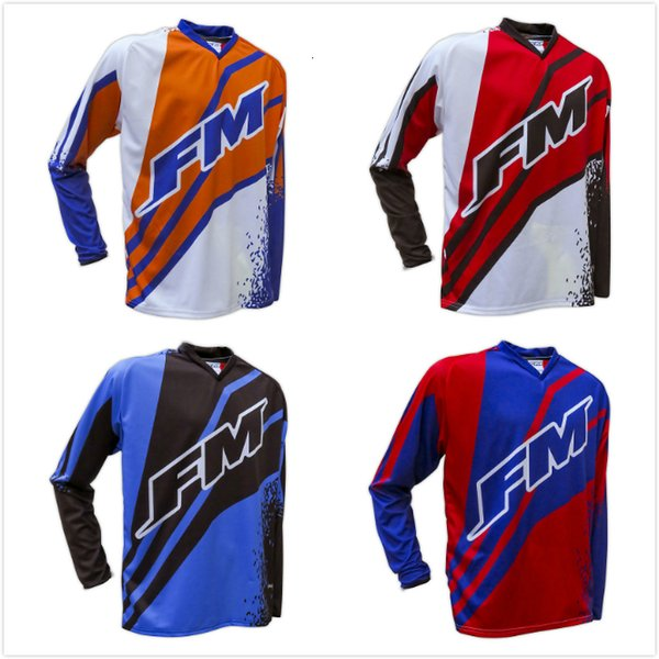 NEW FM Racing Motorcycle Riding Jerseys Moto XC Motorcycle GP Mountain Bike FOR Motocross Jersey XC BMX DH MTB T Shirt Clothes