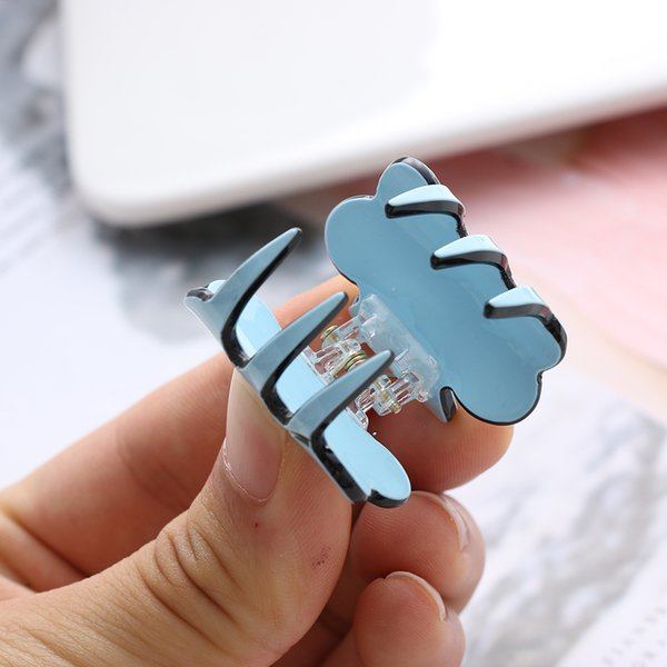 1pc New Fashion Women Hair Claw Elegant Mini Hairpins Simple Colorful Clamp Bun Maker Accessories Acrylic Clips