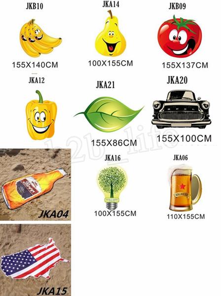 Irregular Toalha de Praia American Flag Football Toalhas Cobertor do fruto do verão animal Forma do envoltório do lenço Grosso MMA1976-2 Yoga Mat Toalha