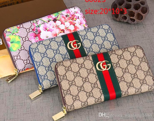 2019 handbag pur e fa hion g wallet men women brand long pur e ladie pu leather zipper cool wallet women clutch for ale