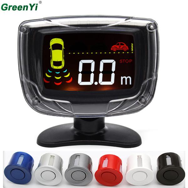 4 Sensores de 22mm Display LCD Retroiluminação Car Parking Sensor de Backup Radar Detector Ultrassônico Parktronic 6 Cores