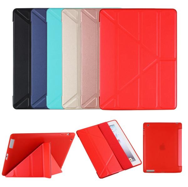 Custodia rigida pieghevole Folio pieghevole Custodia rigida in pelle Custodia rigida per iPad Pro 9.7 2018 Mini Air 5 6