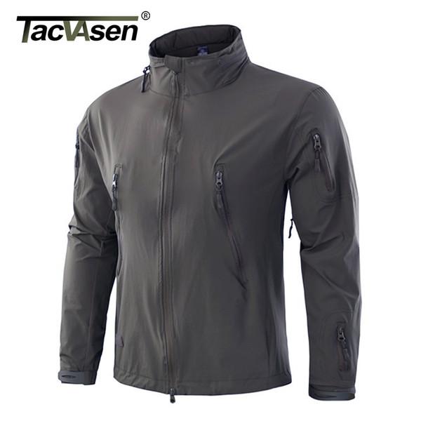TACVASEN NEW Tactical Jacket Coat Herbstwindjacke für Herren Wasserdichte Softshelljacke Versteckte Kapuze Oberbekleidung TD-YWWS-008