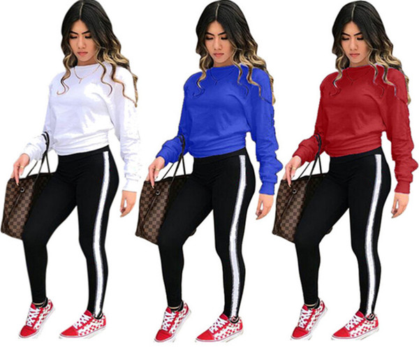 Brand Designer Women sweat suit Hoodies two Piece Set Outfits Embroidery Pullover Leggings Tracksuit Sweatshirt Pants Tracksuit sportswear