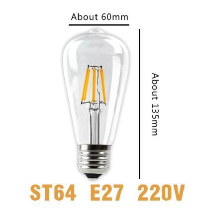 ST64 전구 E27 220V