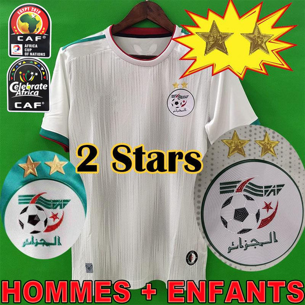 2019 African Cup Champions Algeria 2 stars SOCCER JERSEYS AFCON MAHREZ FEGHOULI BRAHIMI BOUNEDJAH BOUAZZA 19 20 algerie FOOTBALL SHIRTS