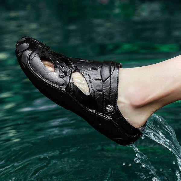 JAYCOSIN Soft Big Size Sandals Comfortable Summer Men Breathable Beach Sandal Outdoor Casual Large Size Slip Wear Sandals APR22