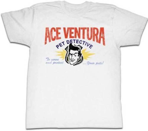 Ace Ventura Pet Detective Business Card Logotipo Adulto T Shirt Engraçado