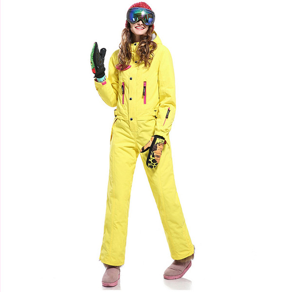 Womens Snow Suit One Piece >> 2019 One Piece Ski Suit Women S Snowboard Suit Snowsuit Warm And Windproof Waterproof Cold Resistant 30 Degrees Women S Clothing From Dragonfruit