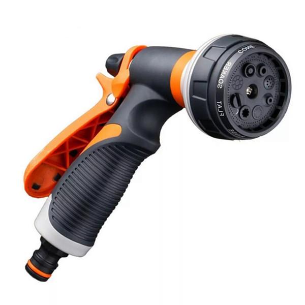 top popular Adjustable 8 in 1 Hose Garden Water Sprayer Hose Pipe Spray Gun Sprinkler Nozzle Connector 2021