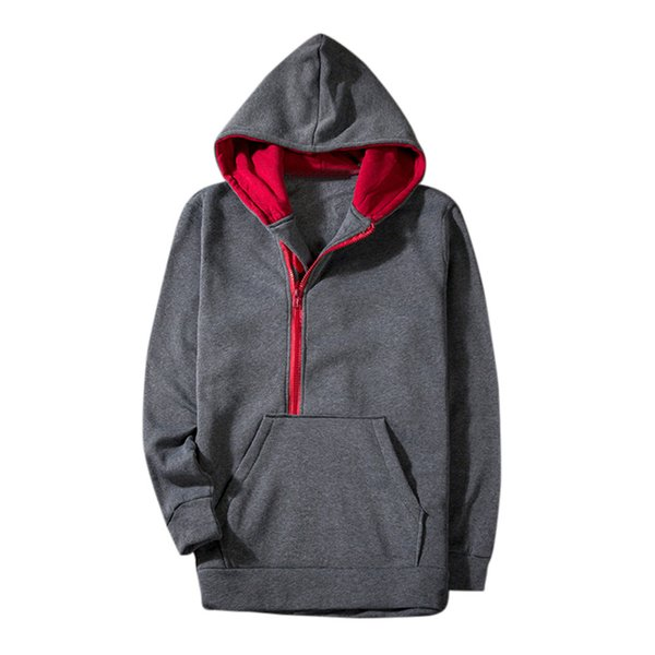 JAYCOSIN Men's Autumn Winter Style Leisure Sports Hoodie Outdoor Splicing Top Blouse New Men Casua Jacket Parka Men Warm Coat