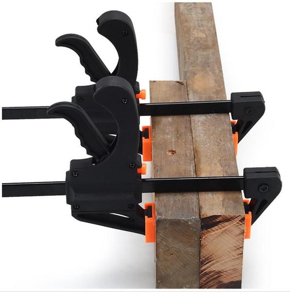 4 pulgadas de trinquete Bar Abrazaderas Herramienta ajustable Carpintería Gadget F abrazadera rápida de la madera Carpintería Quick Clip Clip