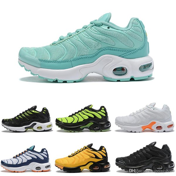 2019 New TN Plus Kids Running Shoes Breathable Girls Boys Youth Designer Sport Sneakers Eur Size 28-35