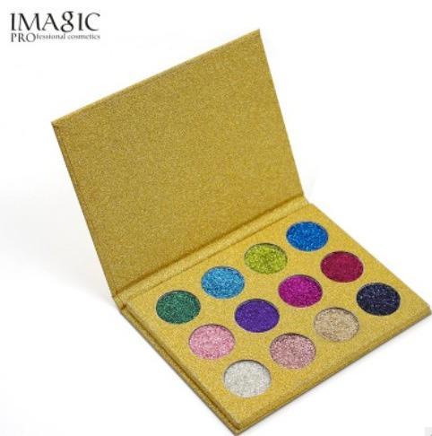 DHL Free 12 Color Palette Makeup Glitter Paint Eye Shadow Waterproof Cosmetics Glitter Single Eye Shadow Magnet Palette Fast Drop Shipping