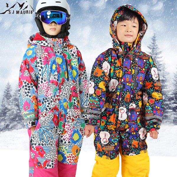 SJ-Maurie Snowboarding Jackets Snow Ski Suits Christmas for Kids Waterproof Jumpsuit Girls Boys Snowboard Jacket Overall