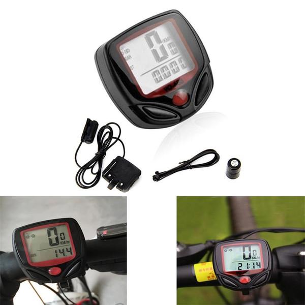 1Set Waterproof Wireless Digital Bike Ride Speedometer Odometer Bicycle Cycling Speed Counter Code Table Sporting Accessories #336659