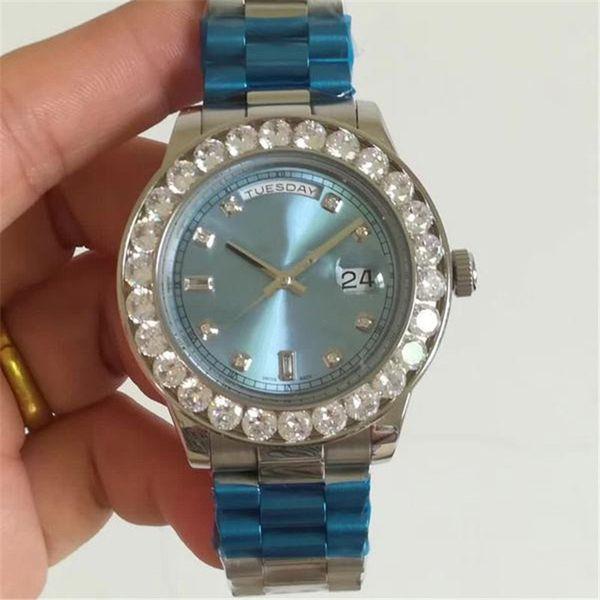 luxury watch mens designer iced out watches 44mm diamond bezel automatic mechanical movement wristwatches Montre de luxe