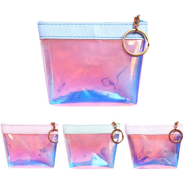 Women's Transparent Handbag Storage Bag female Coin Short Style Fashion Jelly Mini Coin Purse Card Holder Bag portfel damski
