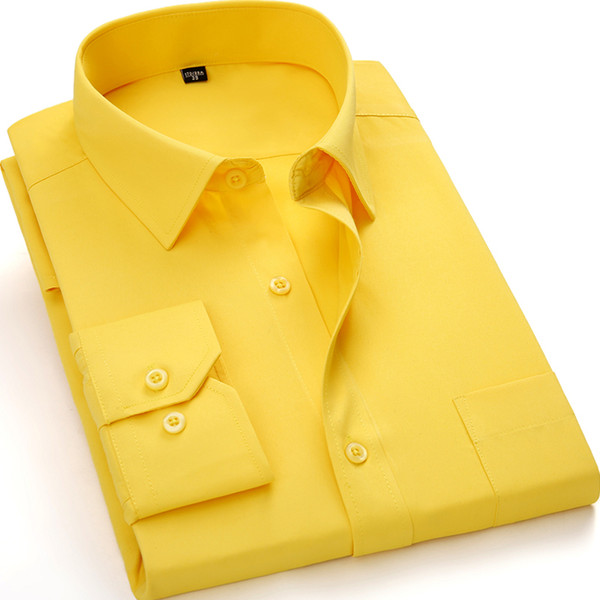 Red Color Plus size XXXL 4XL 5XL 6XL Solid Formal Men Dress Shirts Long Sleeve High Quality Classcial Business Work Men Shirts