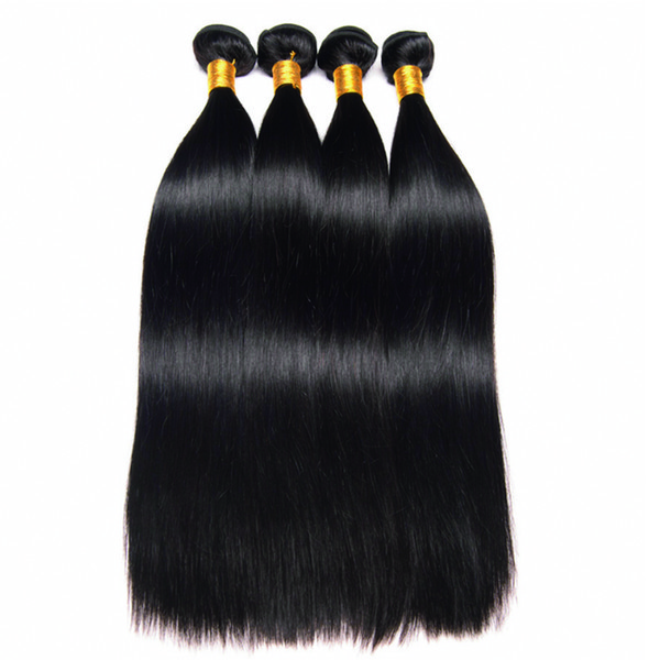 Leila 10A Peruvian Straight hair extensions Bundles 100% Human Hair Bundles Non Remy Hair Weave Extensions Natural Color Can Buy 1/4 pcs