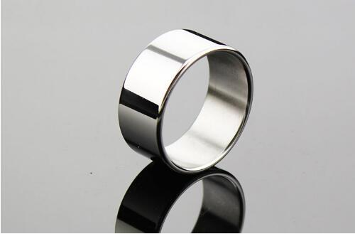 Stainless Steel Penis Ring Delay Rings Chastity Male Metal Fetish Delay Ejaculation Cockrings Adult Sex Toys For Man 26/28/30mm