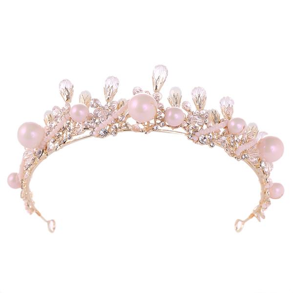 1 unid nupcial diadema noble estilo real corona de circonio casco accesorio para el cabello hairband tiara corona para el banquete de boda