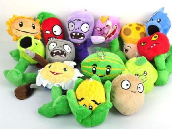 14pcs Plants vs Zombies giocattoli di peluche 12 cm Plants vs Zombies PVZ piante peluche ripiene giocattoli gioco morbido giocattolo per i bambini regali per bambini