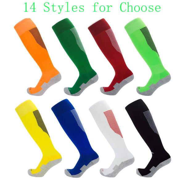 Autumn Winter Christmas Stockings Children Men Soccer Socks Towel Bottom Long Tube Breathable Sports Socks Support FBA Drop Shipping M284F