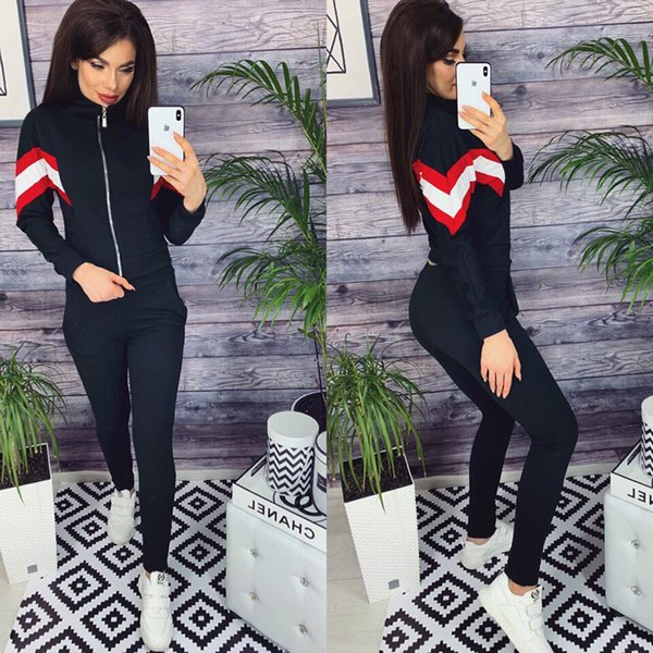 Hot Fashion Ladies Zipper Coat Pants Imposta Designer Brand Tuta Primavera Outdoor Sports Felpe da donna Running Jacket Pantaloni