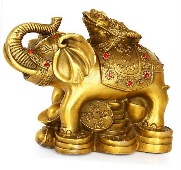 Pure copper lucky wealth glory on the golden plaque ornaments copper elephant home feng shui ornaments ornaments crafts