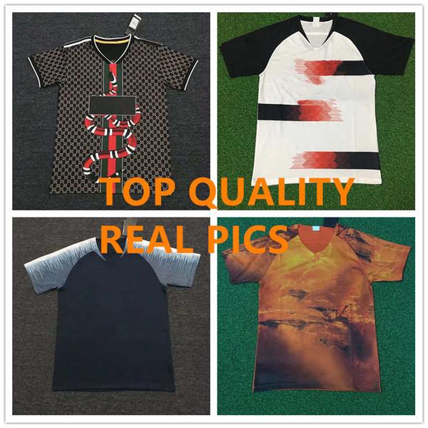 Pop Club Soccer Jerseys Stylish Jerseys Men Man Fans Version Football Soccer Team kit Uniform Top Quality Sport Sets