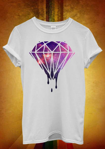 Galaxy Diamond Space Hipster Funny Men Women Unisex T Shirt Tank Top Vest 538 denim clothes camiseta t shirt