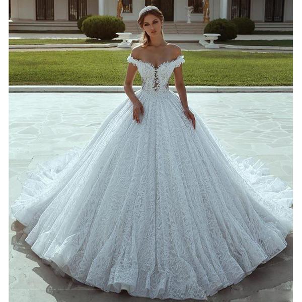 compre vestidos de novia de encaje recortados con encaje recortado