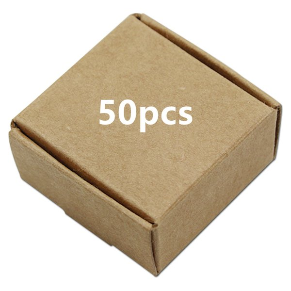 50pcs Brown Kraft Paper Box Gift Packaging Retail Package For Jewelry Pearl Wedding Favor Candy Handmade Soap Packing free shipping
