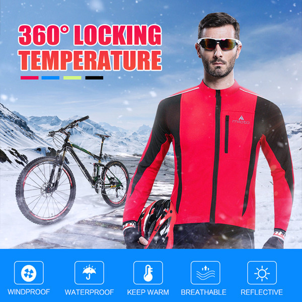 Giacca termica da ciclismo invernale in pile termica termica antipioggia antivento soft shell antivento