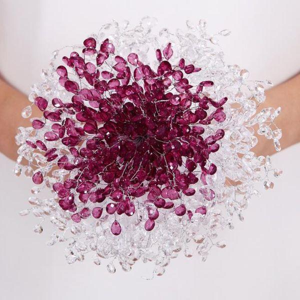 New 2019 Crystal Wedding Bouquet Flowers 50ps/bag Luxury Shinning DIY Bridal Bouquet Acrylic Rhinestones Flowers 7 Colors Free Style F1259