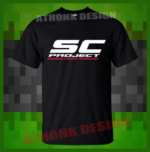NUEVO SC-PROJECT EXHAUST SYSTEM SPORT RACING T-SHIRT Envío gratis divertido Unisex camiseta Casual top